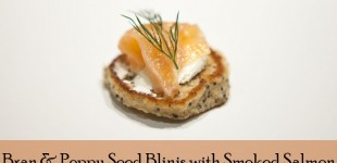 Recipe time - bran and poppy seed blinis